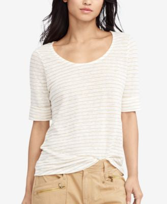 Lauren Ralph Lauren Striped Linen T-Shirt