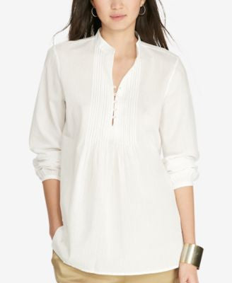 Lauren Ralph Lauren Pintucked Tunic