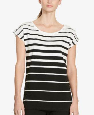 Lauren Ralph Lauren Striped Stretch T-Shirt
