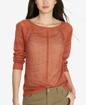 Lauren Ralph Lauren Linen-Blend Open-Knit Sweater