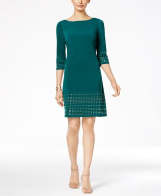 Jessica Howard Petite Studded Sheath Dress