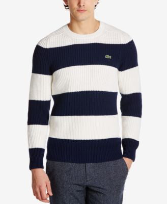 Lacoste Men's Waffle-Knit Striped Sweater