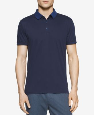 Calvin Klein Men's Mercerized Contrast-Collar Polo
