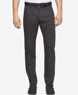 Calvin Klein Men's Tonal-Print Pleated Pants