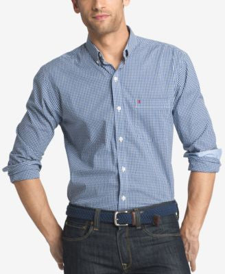 IZOD Men's Gingham Long-Sleeve Shirt