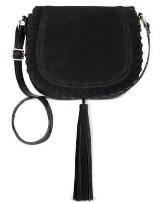 INC International Concepts Willow Saddle Tassel Bag, Only at Vogily