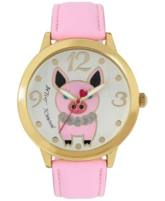 Betsey Johnson Women's Pink Strap Watch 44mm BJ00280-37