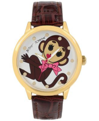 Betsey Johnson Women's Brown Strap Watch 44mm BJ00280-44