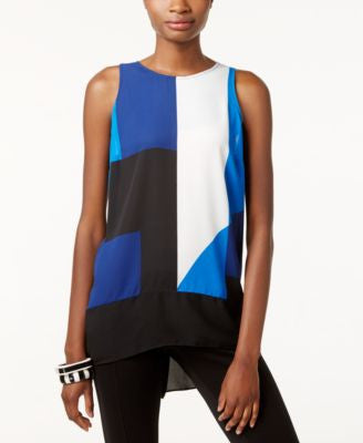 INC International Concepts High-Low Color-blocked Tank Top, Only at Vogily