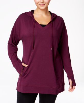 Ideology Plus Size Hoodie Tunic, Only at Vogily
