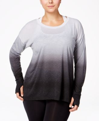 Ideology Plus Size Dip-Dyed Top, Only at Vogily