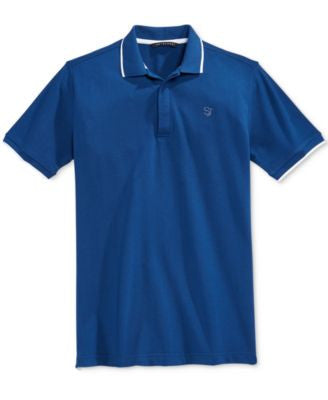 Sean John Men's Jacquard Tipped Polo