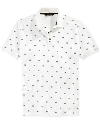 Sean John Men's Geometric Print Polo