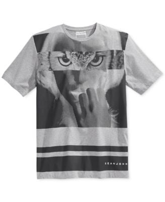 Sean John Men's Striped Graphic-Print T-Shirt