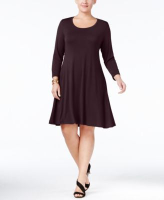 Style & Co. Plus Size Swing Dress, Only at Vogily