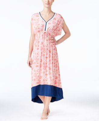 Ellen Tracy Printed High-Low Caftan