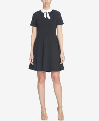 CeCe Short-Sleeve Collared Fit & Flare Dress