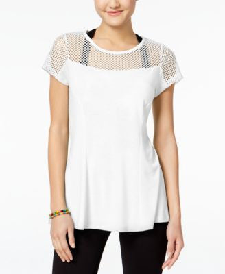 Jessica Simpson The Warm Up Juniors' Mesh T-Shirt, Only at Vogily