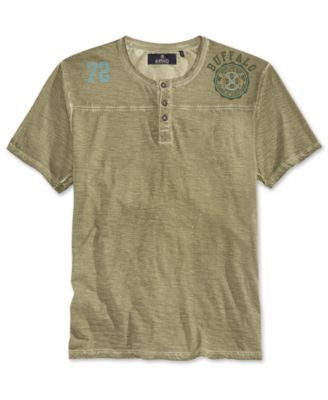 Buffalo David Bitton Men's Nishi Short Sleeve Henley T-Shirt