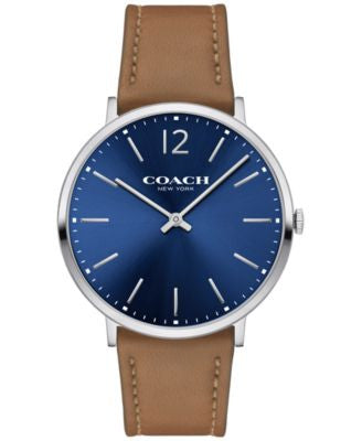 COACH Men's Slim Easton Camel Leather Strap Watch 40mm 14602110