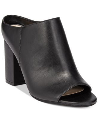 Bar III Matilda Peep-Toe Block-Heel Mules, Only at Vogily