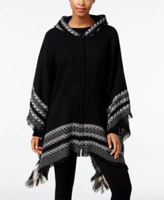 Steve Madden Crossroads Zip Front Poncho