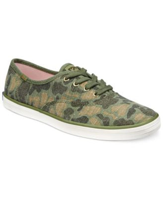 Keds Women's Camo Ripstop Lace-Up Sneakers