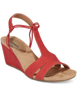 Style & Co. Mitzee Stretch Wedge Sandals, Only at Vogily