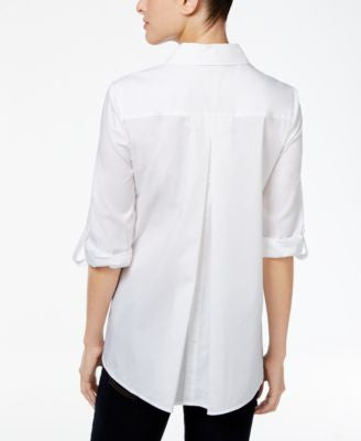 Style & Co. Button-Back High-Low Shirt, Only at Vogily