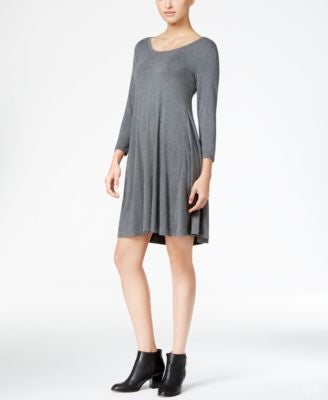Style & Co. Three-Quarter-Sleeve Shift Dress, Only at Vogily