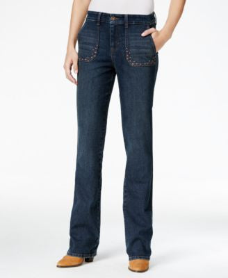 Style & Co. Studded Blue Shadow Wash Bootcut Jeans, Only at Vogily