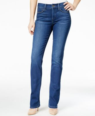 NYDJ Samantha Echo Valley Wash Straight-Leg Jeans
