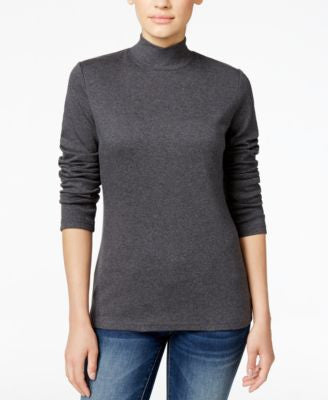 Karen Scott Mock-Turtleneck Top, Only at Vogily