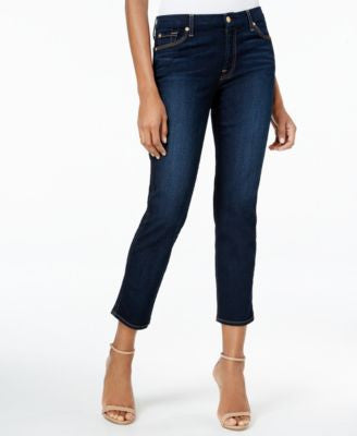 7 For All Mankind Straight Ankle Jeans, Dark Moonlight Bay Wash