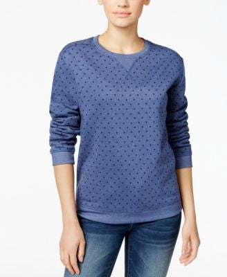 Karen Scott Polka-Dot Sweatshirt, Only at Vogily