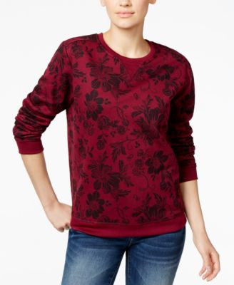 Karen Scott Floral-Print Sweatshirt, Only at Vogily
