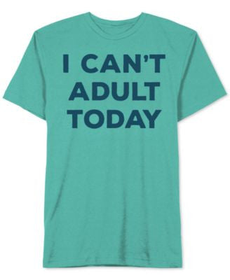 Jem Men's Can't Adult Graphic-Print T-Shirt