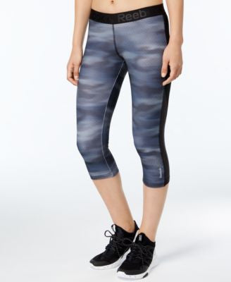 Reebok Speedwick Printed Capri Leggings