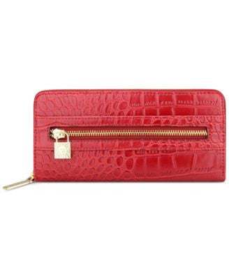 Anne Klein Alligator Alley Zip-Around Wallet