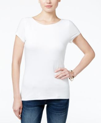 INC International Concepts Petite Boat-Neck Top, Only at Vogily