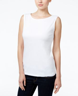 Karen Scott Petite Boat-Neck Tank Top, Only at Vogily