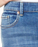 INC International Concepts Cuffed Indigo Wash Cropped Jeans, Only at Vogily