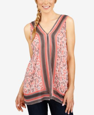 Lucky Brand Printed Sleeveless Top