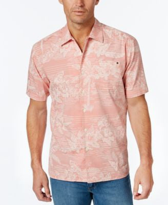 Tommy Bahama Men's Tommy Tides Stripe Floral-Print Short-Sleeve Shirt