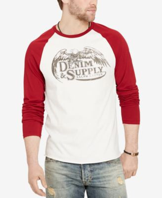 Denim & Supply Ralph Lauren Men's Graphic-Print Baseball Shirt