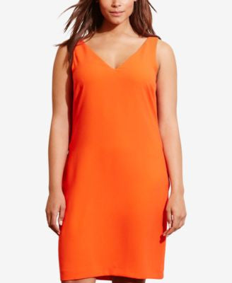 Lauren Ralph Lauren Plus Size Crepe Sleeveless Shift Dress