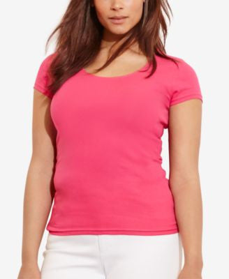 Lauren Ralph Lauren Plus Size Slim-Fit T-Shirt