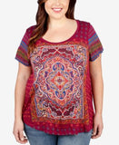 Lucky Brand Trendy Plus Size Magic Carpet Graphic T-Shirt