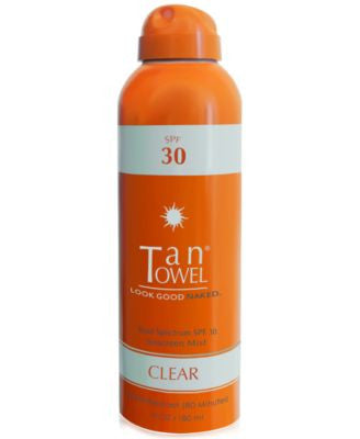 TanTowel SPF 30 Clear Sunscreen Mist, 6 fl oz