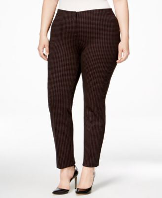 Alfani Plus Size Patterned Skinny Pants, Only at Vogily